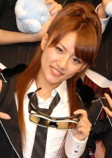 AKB48史上初となる野外ライブイベントの3D放送決定に関して『ひかりTV』の会見に出席したAKB48の高橋みなみ (C)ORICON DD inc.