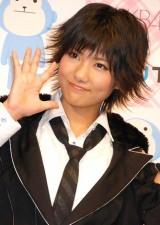 AKB48史上初となる野外ライブイベントの3D放送決定に関して『ひかりTV』の会見に出席したAKB48の宮澤佐江 (C)ORICON DD inc.