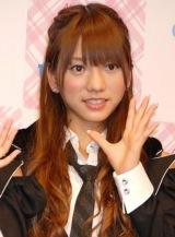 AKB48史上初となる野外ライブイベントの3D放送決定に関して『ひかりTV』の会見に出席したAKB48の高城亜樹 (C)ORICON DD inc.