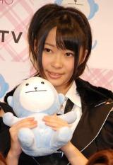 AKB48史上初となる野外ライブイベントの3D放送決定に関して『ひかりTV』の会見に出席したAKB48の指原莉乃 (C)ORICON DD inc.