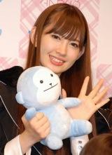 AKB48史上初となる野外ライブイベントの3D放送決定に関して『ひかりTV』の会見に出席したAKB48の小嶋陽菜 (C)ORICON DD inc.