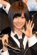 AKB48史上初となる野外ライブイベントの3D放送決定に関して『ひかりTV』の会見に出席したAKB48の前田敦子 (C)ORICON DD inc.