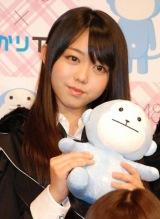 AKB48史上初となる野外ライブイベントの3D放送決定に関して『ひかりTV』の会見に出席したAKB48の峯岸みなみ (C)ORICON DD inc.