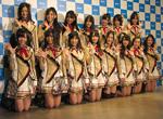 公演に先立って行われた会見に臨んだ、4thシングル選抜メンバーの16名(C)ORICON DD inc.
