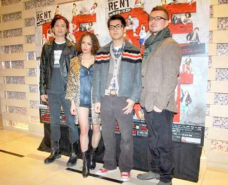 ミュージカル『RENT』の公開舞台稽古前にインタビューに応じた(左から)Anis、ソニン、福士誠治、米倉利紀 (C)ORICON DD inc.