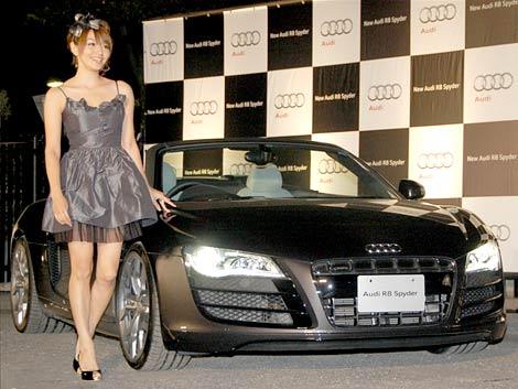 アウディの新車『Audi R8 Spyder』発売記念イベントに出席した眞鍋かをり (C)ORICON DD inc.