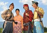 時代劇に初めて挑戦した取材に応じる亀田4兄妹(左より興毅、姫月、大毅、和毅)