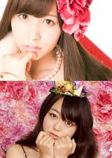 女の子ポーズがキュートな河西智美と峯岸みなみ(下段)/AKB48初の公式カレンダーに封入されるクリアファイル(※デザインは変更になる場合があります)
