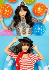 ボーイッシュな姿もキュートな指原莉乃と高城亜樹(下段)/AKB48初の公式カレンダーに封入されるクリアファイル(※デザインは変更になる場合があります)