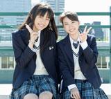 auのLISOMOドラマ『恋色円舞』でW主演を務める(左より)川口春奈、志田未来