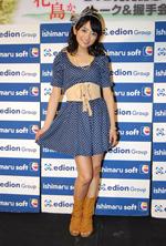 普段はあまり着ないというブルーの衣装でイベントに臨む森田(C)ORICON DD inc.