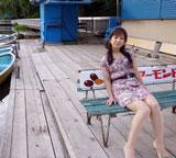HBC2011年カレンダー『札幌美女アナ図鑑』(9・10月に登場する佐藤彩アナ)