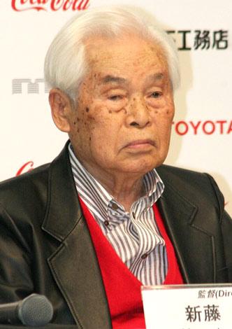 『第23回東京国際映画祭』内で行われた映画『一枚のハガキ』の記者会見に出席した新藤兼人監督 (C)ORICON DD inc.