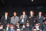 映画『歌うヒットマン!』の舞台あいさつに登壇した(左から)Zeebra、真木蔵人、草刈正雄、和央ようか、高畑隆史監督 (C)ORICON DD inc.
