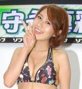 2ndDVD『My pure love』の発売記念イベントをソフマップアミューズメント館で開催した、B87cmの19歳グラビアアイドル・守永真彩 (C)ORICON DD inc.
