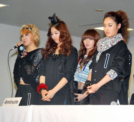 大型K-POPイベント『SEOUL TOKYO MUSIC FESTIVAL 2010』に参加する4Minute (C)ORICON DD inc.