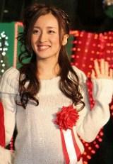 映画『行きずりの街』と東京タワーのクリスマス・イルミネーション点灯式のコラボイベントに登場したAKB48・梅田彩佳 (C)ORICON DD inc.