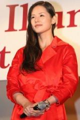 映画『行きずりの街』と東京タワーのクリスマス・イルミネーション点灯式のコラボイベントに登場した小西真奈美 (C)ORICON DD inc.