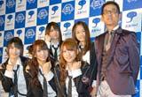 『スカパー!アワード2010』ブルーカーペットに登場したAKB48、三遊亭円楽