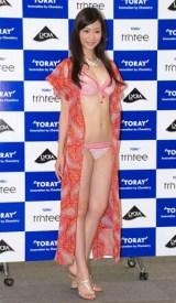 2011年東レキャンペーンガールに選ばれた西田有沙