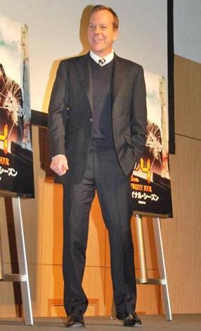 5年ぶりに来日し、主演ドラマシリーズ『24』のファン感謝祭にゲスト出演したキーファー・サザーランド (C)ORICON DD inc.
