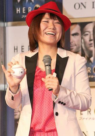 """海外ドラマ『HEROS ファイナル・シーズン』DVDリリース記念イベントに出席した""""ナックル姫""""こと吉田えり (C)ORICON DD inc."""
