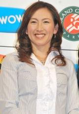 特別番組『WOWOWテニス』の制作発表会見に出席した杉山愛氏 (C)ORICON DD inc.