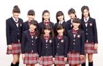 さくら学院のメンバーたち。三吉彩花( 後列右端)はドラマ『熱海の捜査官』に出演したり、ミスセブンティーンに選ばれるなど、注目度急上昇中だ。