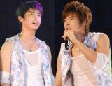 (写真左から)チャンミン、ユンホ【09年8月6日撮影】 (C)ORICON DD inc.