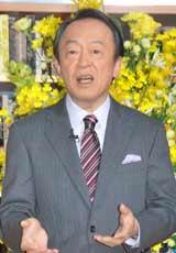 テレビ朝日系『そうだったのか! 池上彰の学べるニュース』の会見で記者の質問にわかりやすく答える池上彰氏