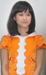 iPhoneアプリ「モーフィング娘。」記者会見に出席した亀井絵里 (C)ORICON DD inc.