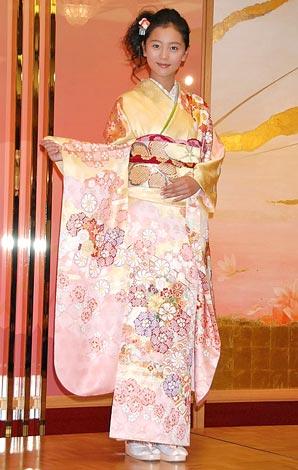 オスカープロモーション恒例の晴れ着撮影会に参加した工藤綾乃 (C)ORICON DD inc.