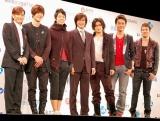 (左から)小室哲哉、キム・ヒョンジュン、VANNESS、ペ・ヨンジュン、GACKT、ジョセフ・チェン、ファニ (C)ORICON DD inc.