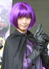 米映画『キック・アス』のコスプレ姿で登場した加藤夏希