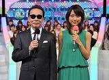 『ミュージックステーション』の司会を務めるタモリ(左)、竹内由恵アナウンサー