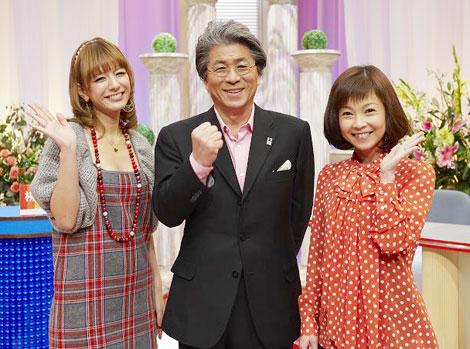 収録に参加した(左より)スザンヌ、鳥越俊太郎、はしのえみ
