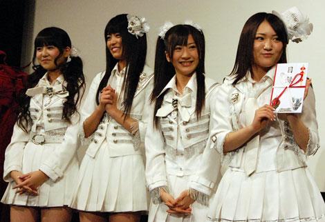 AKB48(写真中列左から)佐藤すみれ、前田亜美、石田晴香、内田眞由美 (C)ORICON DD inc.