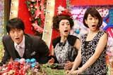 番組の司会を務める(左より)千原ジュニア、久本雅美、内田恭子