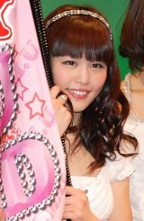 ご当地アイドルNo.1を決定するイベント『U.M.U AWARD 2010』で優勝した、新潟県代表NegiccoのNao☆ (C)ORICON DD inc.