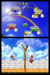 DSソフト初の実売600万本を達成した『New スーパーマリオブラザーズ』ゲーム画面