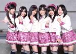 インタビューに答えたNMB48のメンバー。写真左から吉田朱里、小笠原茉由、渡辺美優紀、山本彩、山田菜々、近藤里奈