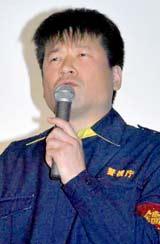 ドラマ『CONTROL 〜犯罪心理捜査〜』(フジテレビ系)の完成披露試写会で舞台あいさつに登壇した佐藤二朗