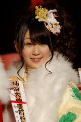 今年成人式を迎え振袖姿を披露したAKB48・中田ちさと (C)ORICON DD inc.