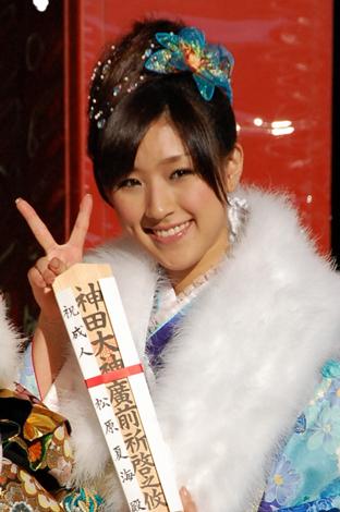今年成人式を迎え振袖姿を披露したAKB48・松原夏海 (C)ORICON DD inc.
