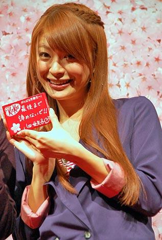 『サクラサク受験生応援カフェ』で受験生応援イベントを行った八田亜矢子 (C)ORICON DD inc.