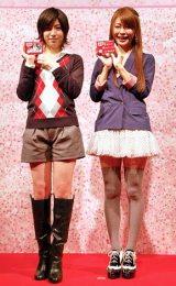 『サクラサク受験生応援カフェ』で受験生応援イベントを行った(左から)南沢奈央と八田亜矢子 (C)ORICON DD inc.