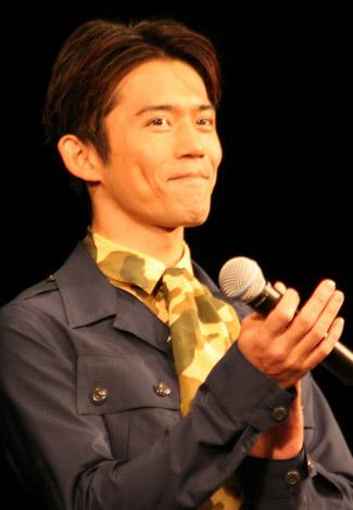 映画『太平洋の奇跡 フォックスと呼ばれた男』の舞台あいさつに出席した岡田義徳 (C)ORICON DD inc.