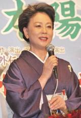 芸道50周年記念『北島三郎特別公演』の製作発表会見に出席した山本陽子 (C)ORICON DD inc.