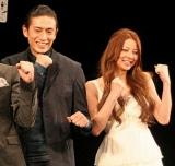 映画『あしたのジョー』の完成報告会見に出席した伊勢谷友介(左)と香里奈 (C)ORICON DD inc.