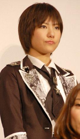 映画『DOCUMENTARY of AKB48 to be continued 10年後、少女たちは今の自分になにを思うのだろう?』初日舞台あいさつに出席した宮澤佐江 (C)ORICON DD inc.
